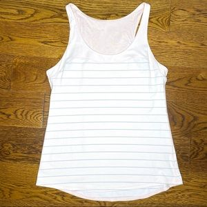 Lululemon Pink/Gray Stripe Racerback Tank Top 8